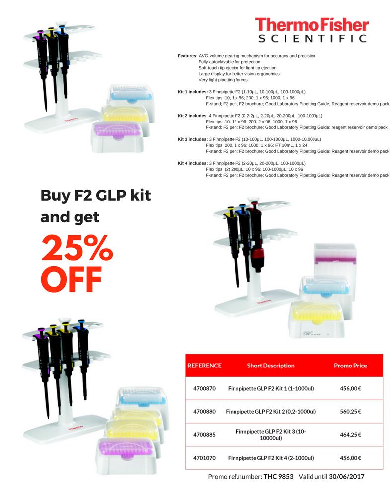 pipeta F2 GLP kit Finnpipette