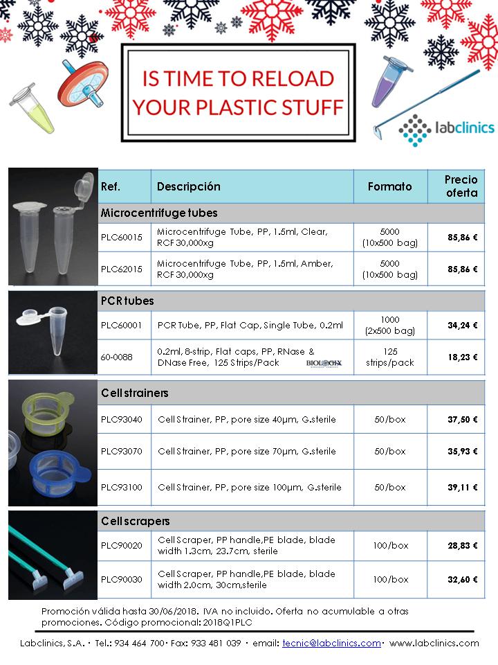 material plástico, plastic stuff, eppendorf, microfuge, microtubo, microtube, cell scraper, cell strainer, in vitro, cell culture, cultivo celular, eppendorf, PCR tube, tubo PCR,